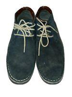 Kenneth Cole Reaction Desert Sun suede chukka shoes men's size 7.5 M navy blue