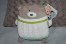 DOUDOU ORCHESTRA OURS  GRIS PULL BLANC  100% NEUF ETIQUETTE