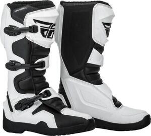 Fly Racing Maverik Motocross Boots White/Black Mens Size 7 364-67507 Open Box