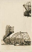 CROCKETT CA - Span Ready to Raise Carquinez Bridge, Long and High Approach RPPC
