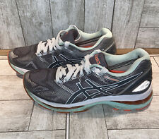 New listing Asics Womens Gel Nimbus 19 T750N Gray Mint Green Running Shoes Lace Up Size 7.5