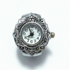 Girl   Petal Creative Hot Flower New Alloy Jewelry Finger Ring Quartz Watch