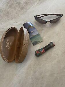 MAUI JIM Sunglasses MAKAHA MJ H 405-10 Tortoise Frames w/Polarized Bronze Lenses