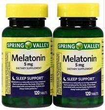 Spring Valley Melatonin Tablets, 5mg, 120 Pc, 2 Ct