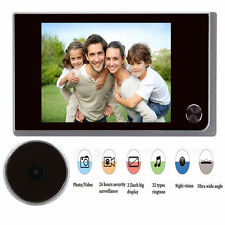"""3.5"""" Digital Doorbell 120° Peephole Viewer IR Camera Video Security Door Bell"""