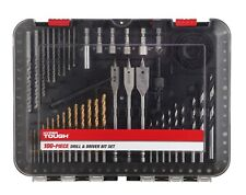 POWER TOOL 100PC DRILL SCREWS AND NUT DRIVER BITS HOLE SAWS KIT IN CARRY CASE