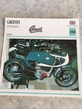 Greeves 250 silverstone 1968 Carte moto Collection Atlas UK