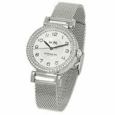 BRAND NEW COACH 14502651 MADISON SILVER STAINLESS STEEL MESH STRAP WOMEN'S WATCH