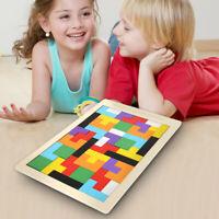 Holz Puzzle Tetris Spielzeug Geometrie Kinder Lernspiel Formenspiel Baby DE DHL.