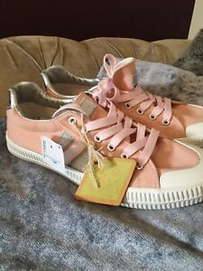 Replay Womans Eur 39 UK Size 6 Pink And Silver Trash Punk Trainers New