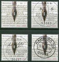 Bund 2490 postfrisch gestempelt BRD Luxus Vollstempel ETST Bonn,Berlin,Hamburg..