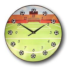 Soccer Ball Wall Clock (13 Inch) Boys Sports Theme Clock Kid Room