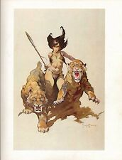 "1977 Full Color Plate ""The Huntress"" by Frank Frazetta Fantastic GGA"