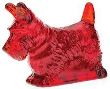 Scottie Scotty Dog Scottish Terrier - Mosser USA - Red Glass