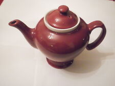VINTAGE CLASSIC BURGUNDY MCCORMICK TEAPOT WITH INFUSER EXCELLENT MADE IN USA