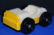 Vintage Fisher Price Little People White on Yellow Car