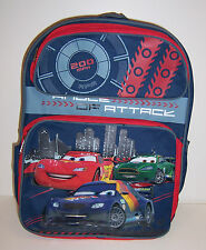 """Disney CARS LIGHTNING McQUEEN Large 16"""" BACKPACK School Bag Angle of Attack NEW!"""