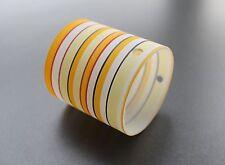 VERRE ABAT-JOUR DE RECHANGE cylindre blanc jaune orange rayé G9 dimension trou