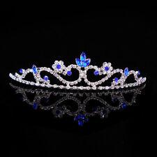 3cm High Royal Blue Crystal Bridal Bridemaid Wedding Prom Party Tiara Headband