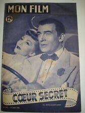 Revue Mon film COEUR SECRET Claudette COLBERT Walter PIDGEON N°209 du 23 08 50