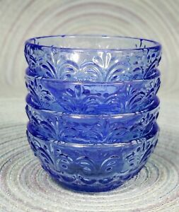 THE PIONEER WOMAN SET OF 4 GLASS COBALT BLUE DIP BOWLS NEW