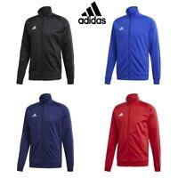 Adidas Core Full Zip Mens Jacket Tracksuit Top Football Track Jumper Sweatshirt