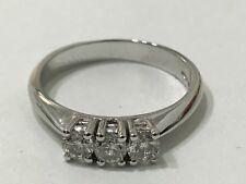 Anello Oro Bianco 18 kt Trilogy Diamanti 0,45 Ct f color VS1 PREZZO AFFARE