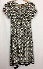Max Studio Dress Geometric Short Sleeve Stretch Knit Size Small