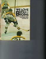 1972 hockey book  Boston Bruins from Eddie Shore to Bobby Orr FAIR