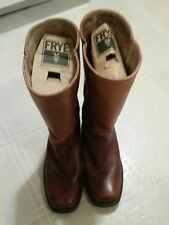 FRYE Wellington Leather Boots Motorcycle Engineer 2954 Chesnut Brown Men 8D.
