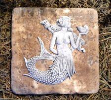 "Mermaid travertine tile abs plastic mold 6"" x 6"" x 1/3"" thick"