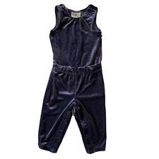 NWT Oshkosh Genuine Kids Baby Girls Jumpsuit Blue Velvet...