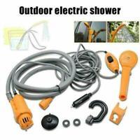 12V Portable Outdoor Automobile Car Shower Set Water Spray Set Camping Pump W7Y1