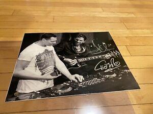 HENRIK LUNDQVIST NY Rangers TIESTO DJ DUAL SIGNED 11X14 Guitar Autograph Steiner