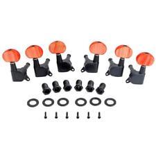 6 piezas 3L3R String Tuning Clavijas Claves Sintonizadores con botones rojos