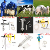 0.5-20ml Reusable Continuous Needle Injection Gun Vaccinate Syringe Livestock
