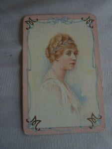 Royalty ? Distinguished Lady 1 SINGLE Genuine Vintage Swap playing card