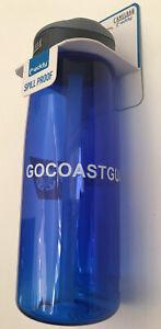 NEW CAMELBAK eddy  GO COAST GUARD spill proof .75 liter 750ml Blue Water Bottle