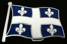 QUEBEC FLEUR D'LYS FLAGS  BELT BUCKLE DRAPEAU QUEBECOIS BOUCLE CEINTURE