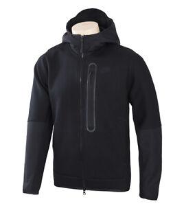 Nike Sportswear Men's Tech Fleece Woven Full-Zip Hoodie Jacket Black CZ9905-010