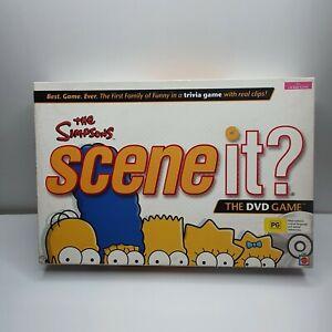 The Simpsons Scene It DVD Board Game Mattel TV Trivia Quiz Complete