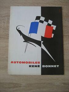 Automobiles Rene Bonnet Missile Le Mans Djet Prospekt Brochure