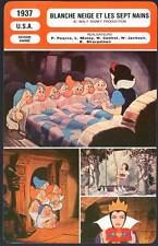BLANCHE NEIGE ET LES 7 NAINS (Fiche Cinéma)1937 Snow White and the Seven Dwarfs