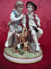 sehr schöne,alte, große Porzellanfigurengruppe__2 Jungen__27,5cm__gemarkt_!