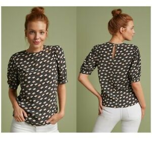 Womens NEXT Blouse Ladies Tunic Shell Top SPOT DITSY Print Work Shirt Party Size