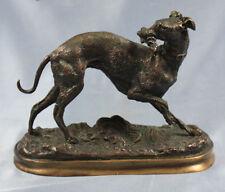 Windhund Greyhound whippet original bronze Y. Mongmiey figur hund  bronzefigur