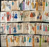 1950-1960s Vintage VOGUE Patterns Lot w/ McCall's Butterick Simplicity Advance