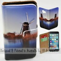 For Apple iPhone Series - Windmill Theme Print Mobile Phone Case Cover