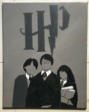 Harry Potter Minimalistic Handmade Acrylic Painting on Canvas Original