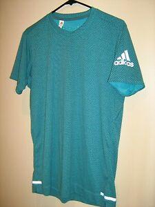 NEW Mens sz M Adidas Climachill Green Athletic Shirt Training Performance Gym